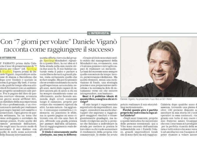 Il quotidiano del sud – 7 días para volar, el primer libro de Daniele Viganò