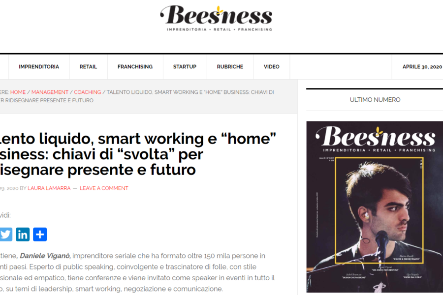 Talento liquido e smart working per ridisegnare il fututo – Beesness.it